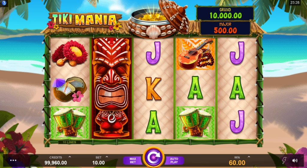 Try Tiki Mania At Your Favourite Microgaming Casino